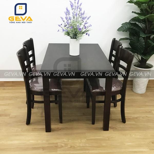Bộ bàn ăn cabin 4 ghế màu nâu thiết kế sang trọng