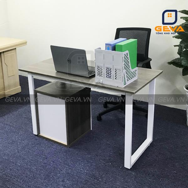 Bàn chữ U kết hợp với hộp di động và ghế văn phòng