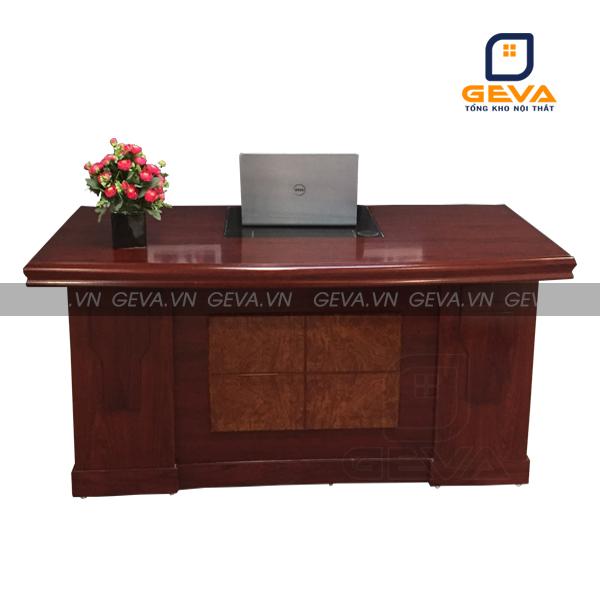 Hình ảnh thực tế bàn giám đốc đầu trâu 1m4 - DT14 tại nội thất GEVA: