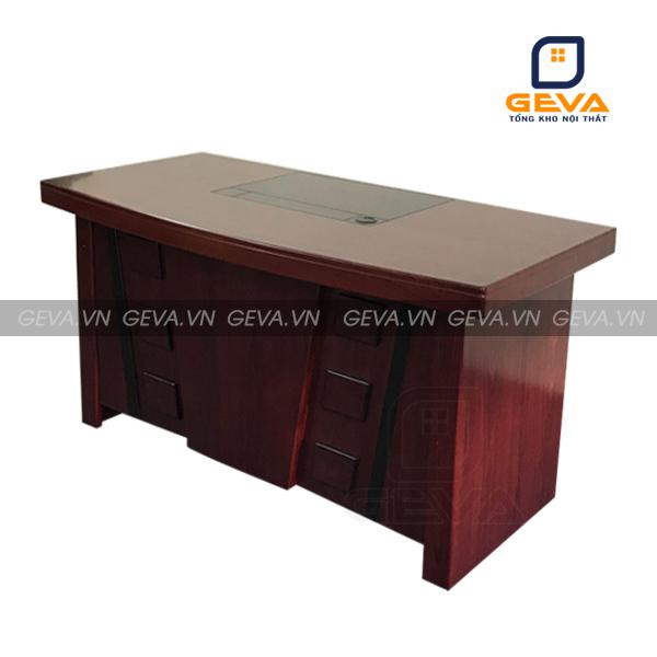 Hình ảnh thực tế bàn giám đốc đầu trâu 1m6 - DT16 tại nội thất GEVA: