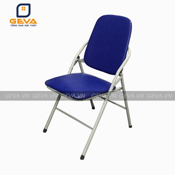 Ghế gấp chân sơn lưng dài mặt đệm