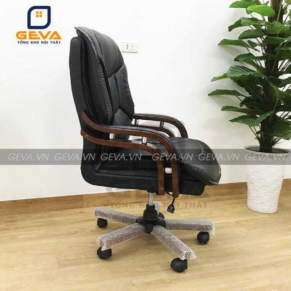 Ghế giám đốc bọc da chân gỗ - GD01
