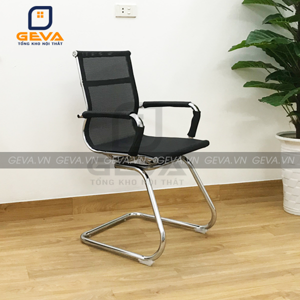 Ghế quỳ lưới liền lưng thấp được dùng trong các phòng họp
