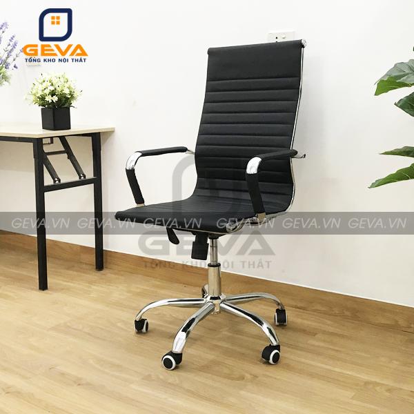 Ghế xoay liền da lưng cao thường dành cho phòng trưởng phòng