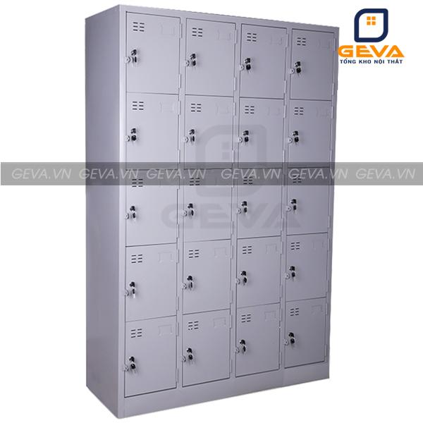 Hình ảnh thực tế tủ sắt locker 20 ô LK07