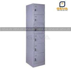 Tủ locker 6 ngăn 1 cột nhỏ gọn
