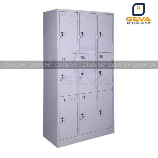 Tủ locker 9 ngăn đựng đồ có lỗ thoát khí chống ẩm mốc