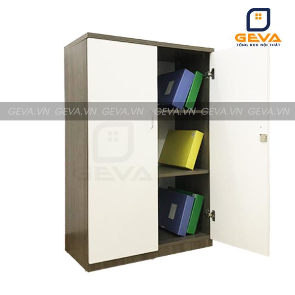 Tủ hồ sơ thấp 2 cánh – TL16 được chia thành 3 phần giúp phân chia tài liệu