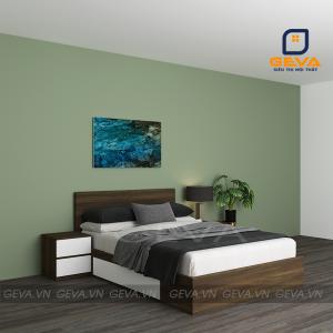 Giường ngủ đơn 1m2 có 2 ngăn kéo - GN11