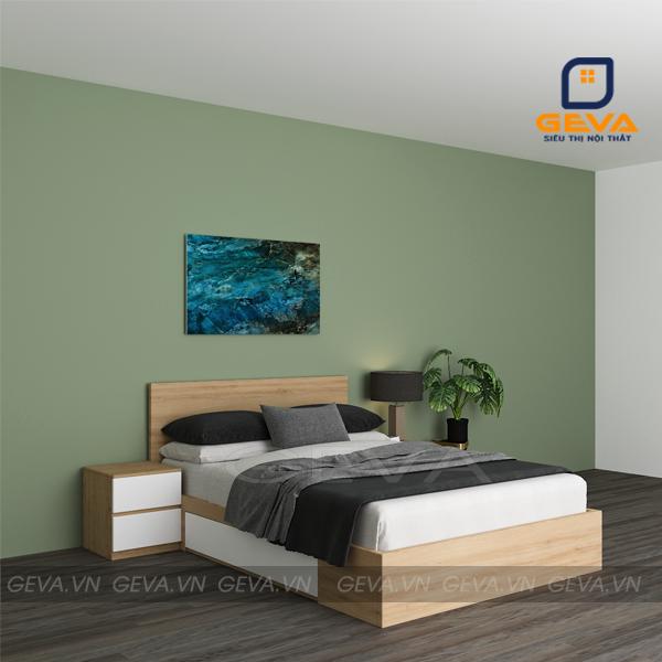 Giường gỗ công nghiệp MDF rộng 1m2 - GN12