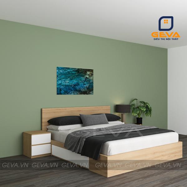Giường gỗ 1m6 có 2 ngăn kéo - GN17