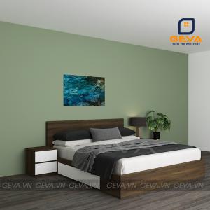 Giường gỗ công nghiệp MDF 1m6 có 2 ngăn kéo - GN18