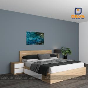 Giường ngủ nẹp inox 2 ngăn kéo - GN13