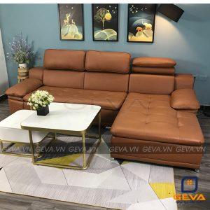 Sofa góc da chữ L tựa đầu điều chỉnh độ nghiêng - AD14