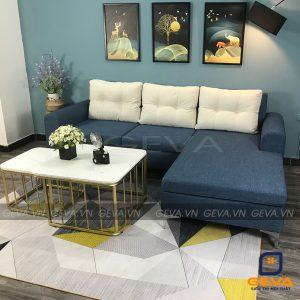Bộ ghế sofa góc nỉ và gối tựa - SG13