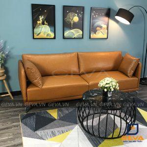 Sofa văng da bò gối tựa - SD18