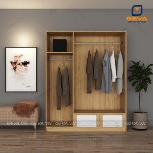 Tủ quần áo cửa lùa 3 cánh trắng rộng 1m6 - TA20