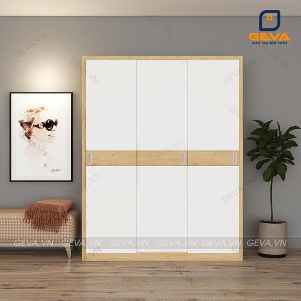 Tủ quần áo cửa lùa rộng 1m6 cánh trắng - TA19