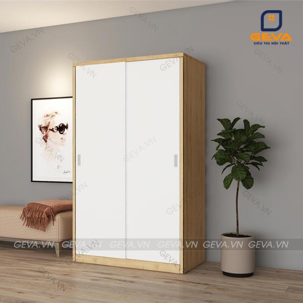 Tủ quần áo cánh lùa rộng 1m2 nhỏ gọn phù hợp với phòng ngủ nhỏ