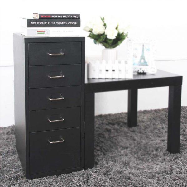 Hộc tủ 5 ngăn kéo có thể đặt cạnh bàn làm việc