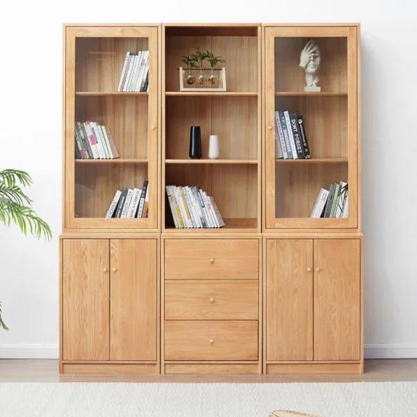 Tủ hồ sơ ba buồng gỗ tự nhiên tinh tế và thanh lịch