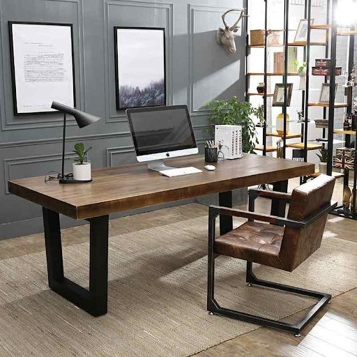 Bàn làm việc thiết kế đơn giản cho phòng làm việc tại nhà
