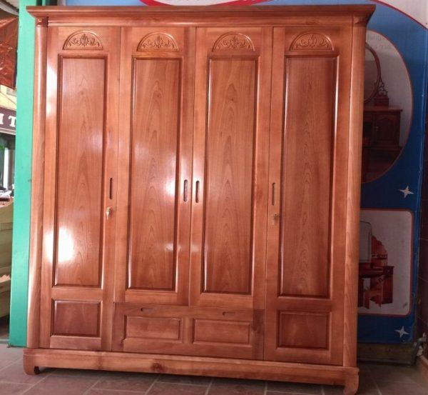 Tủ quần áo gỗ tự nhiên chất lượng 100%
