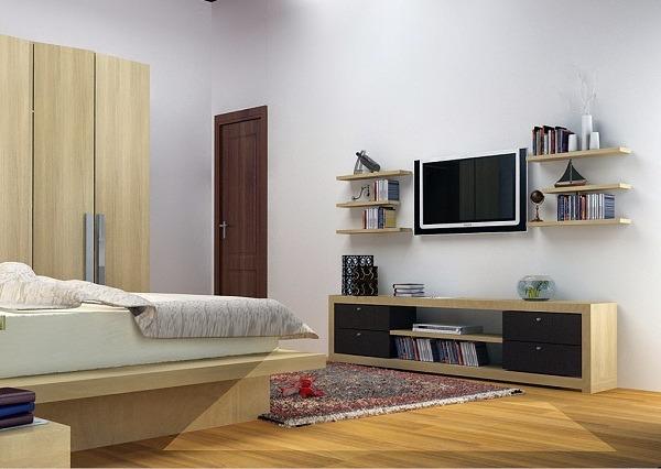 Lưu ý diện tích căn phòng khi chọn mua kệ tivi đẹp