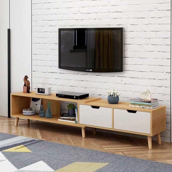 Kệ tivi treo tường giúp tiết kiệm được diện tích căn phòng của bạn.